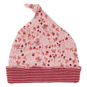 Mädchen Mütze rosa bedruckt Bio Baumwolle People Wear Organic - People Wear Organic