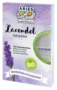 Bio Lavendel Duftsäckchen 2er Set - ARIES
