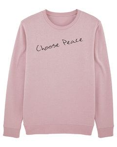 Bio Unisex Sweatshirt - Smooth 'Choose Peace' - Human Family