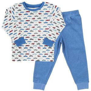 Jungen Schlafanzug blau weiß gemustert Bio People Wear Organic - People Wear Organic