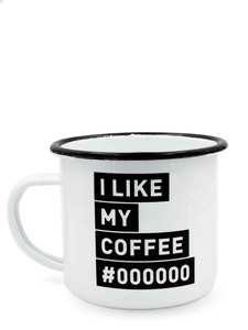 Enamel Cup | Emaille Becher, Kaffeetasse, Retro Tasse (I like my) - heyholi