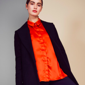 Bluse PORTIA SILKY orange - JAN N JUNE