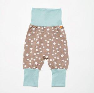"Babypumphose ""Stars taupe"" aus 95% Bio-Baumwolle, 5% Elasthan - Cheeky Apple"