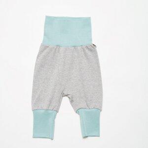 Babypumphose 'Interlock grau/Stone blue' aus 100% Bio-Baumwolle - Cheeky Apple
