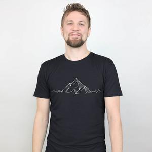 Shirt Mountainbeat aus Modal®-Mix Schwarz - Gary Mash