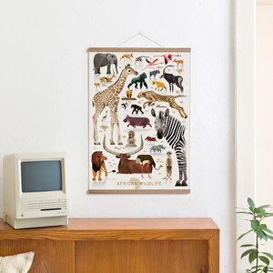 Set / African Wildlife + Posterleiste Eiche 50 cm - Kleinwaren / von Laufenberg