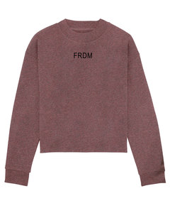 "Damen Crop Sweatshirt ""Realize - Freedom""  - Human Family"