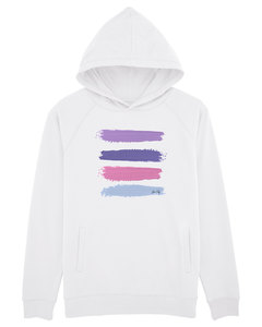 "Leichter Unisex Hoodie -  ""Acryl Stripes""  - Human Family"