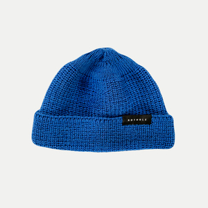 Unisex Beanie Kurz Wolle Royal - Rotholz