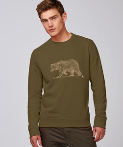 Herren Sweatshirt/ golden Bear - Kultgut