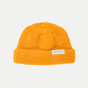 Cropped Beanie Yellow - Rotholz