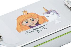 Brotdose Prinzessin blond oder dunkelhaarig - tindobo