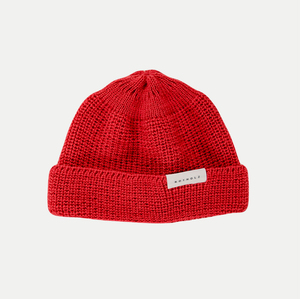 Cropped Beanie Red - Rotholz