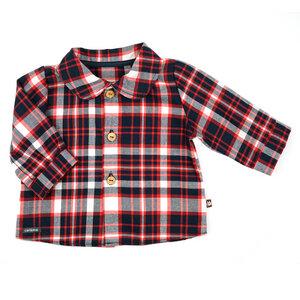 Niedliche Babybluse (navy/rot od. rosa/grau) im British-Style (54372) - carl&lina