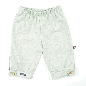 Robuste Spielhose (grau-meliert) in soften Sweatmelangen (55560) - carl&lina