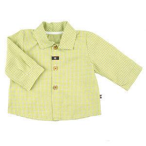 Stylisches Babyhemd (hellblau od. oliv) mit Spitzkragen (54481) - carl&lina