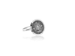 Ring Silber Aztekenkalender Siegelring handmade filigran Fair-Trade - pakilia