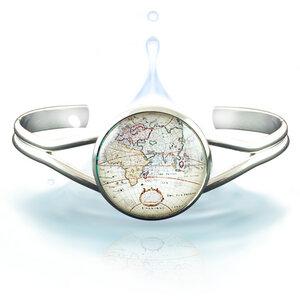 Weltkarte Armband - Limitierte Ausgabe - Mit Liebe in Wien designt - Klimisy