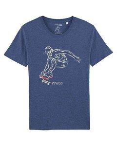 Skate for Live, Herren T-Shirt mit Skater als Motiv. Skater Bio Shirt - YTWOO