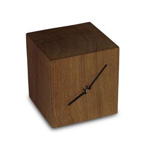 Tischuhr Eiche Massiv 13x13x13 cm Quarz  Uhr Schreibtischuhr Quarzuhr - GreenHaus