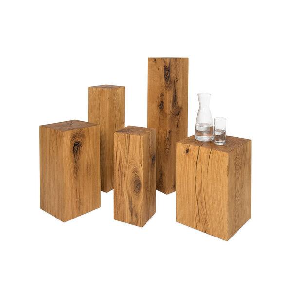 greenhaus holzblock beistelltisch xx cm eiche