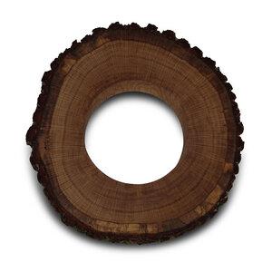Baumscheibe aus Eiche Massivholz für Kranz Holzscheibe massiv  - GreenHaus