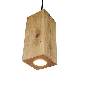 Hängelampe Holz Eiche Pendelleuchte Pendellampe 13x13x30 cm - GreenHaus