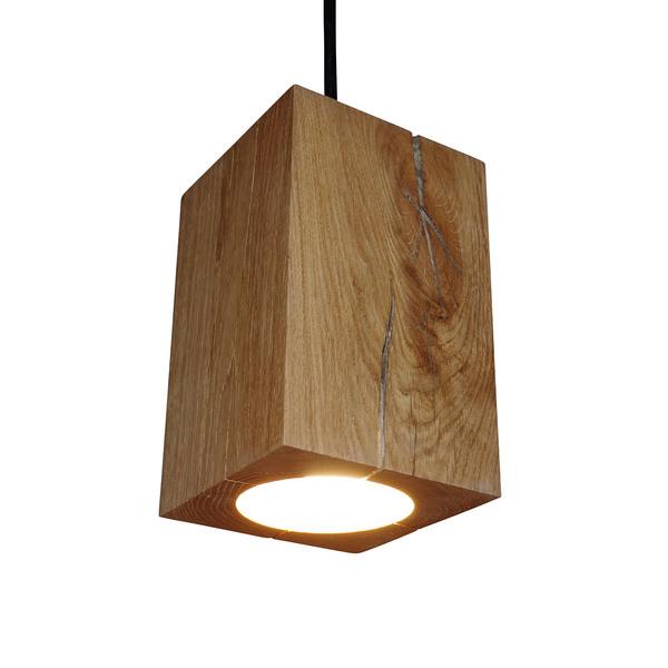 greenhaus h ngelampe holz eiche pendelleuchte pendellampe 13x13x20 cm avocadostore. Black Bedroom Furniture Sets. Home Design Ideas