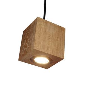 Hängelampe Holz Eiche Pendelleuchte Pendellampe 13x13x13 cm - GreenHaus