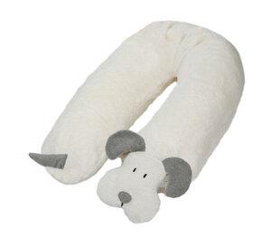 Stillkissen Hund mit Dinkelspelz gefüllt (grau) - Efie