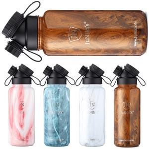 Exklusive JuNiki´s Trinkflasche XL aus Edelstahl Vakuum-isoliert 1L/32oz - hochwertige Dekore in Holz- und Steinoptik - JN JuNiki's