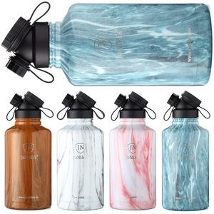 Exklusive JuNiki´s Trinkflasche XXL aus Edelstahl Vakuum-isoliert 1,86L/64oz - hochwertige Dekore in Holz- und Steinoptik - JN JuNiki's