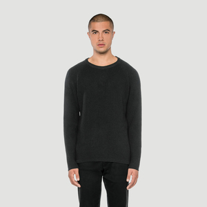 'Basic' Merino-Knit Sweater Dark Heather - Rotholz