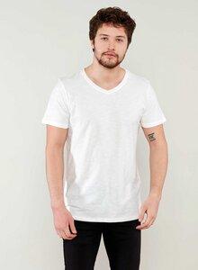 Basic V-Ausschnitt T-Shirt aus Bio Baumwolle in Slub JerseyT-Shirt aus Bio Baumwolle in Slub Jersey - ORGANICATION