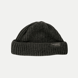 'Merino Knit Beanie Short' Dark Heather - Rotholz