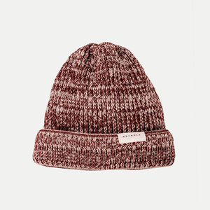 'Merino Knit Beanie' Red Melange - Rotholz
