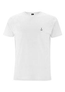 Herren T-Shirt Weiß mit Stick verschiedene Farben (fair & bio)  - Hanseat