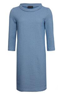 Shiftkleid in hellblau beige aus Bio Jacquard - bill, bill & bill