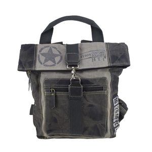 Sunsa Upcycling Rucksack 52207 Grau - Sunsa