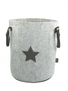 JUBELIST Bucket Spielzeug Wäsche Korb aus Filz mit Stern - JUBELIST