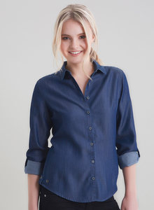 Jeansbluse in Tencel Denim Ware - ORGANICATION