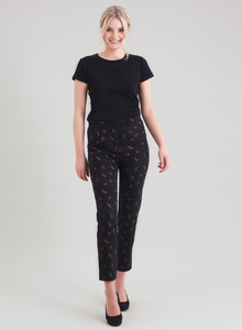 Tencel Alloverprint Hose mit schmalen Bein - ORGANICATION
