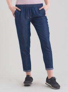 Tencel Jeanshose mit Kordel und seitlichen Eingriffstaschen - ORGANICATION