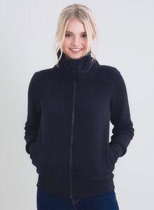 Sweatshirt aus Bio-Baumwolle Rollkragen und Reißverschluss - ORGANICATION