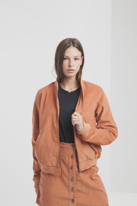 Kurzer Cordrock in Orange - Sunburn Corduroy Short Skirt - thinking mu