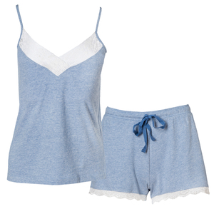 Pyjama Set - blau melange - People Wear Organic