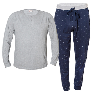 Pyjama Set - grau melange - People Wear Organic
