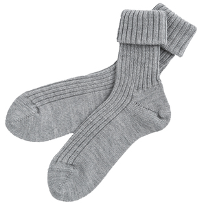Wollsocken - grau melange - People Wear Organic