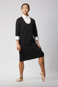 Businesskleid aus Bio-Baumwolle - Schwarz - LUXAA