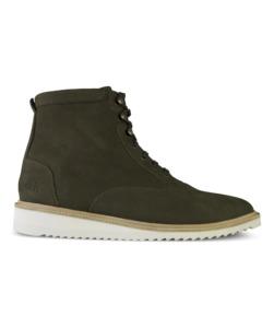 Desert High / Olivefarbenes Nubukleder / Ripplesohle - ekn footwear